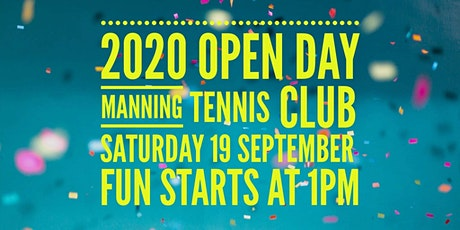 Manning Tennis Club Annual Open Day tickets