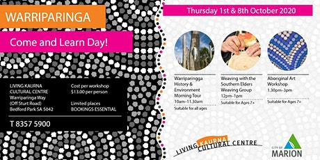 Come and Learn Day at Warriparinga - Weaving with the Southern Elders tickets