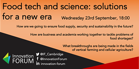 Food tech and science: solutions for a new era tickets