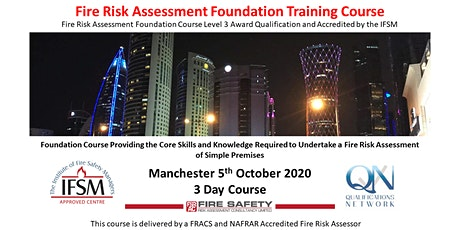 3 Day Fire Risk Assessment Level 3 Qualification & Accredited Course tickets