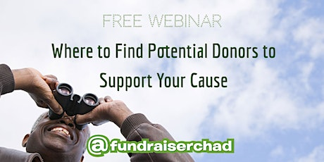 Where to Find Potential Donors to Support Your Cause [FREE WEBINAR] tickets