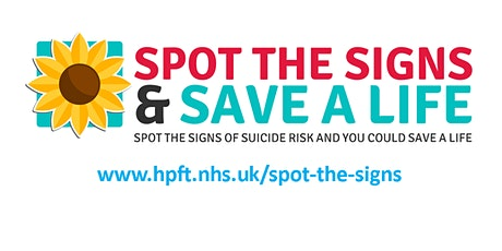 Spot the Signs Suicide Prevention Training Webinar - November tickets
