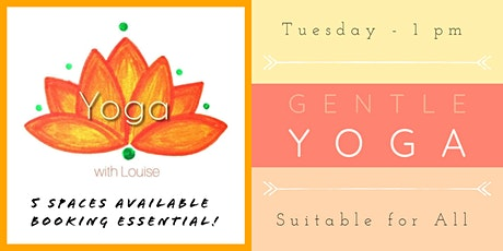 TUESDAY 1pm - Gentle Hatha Yoga tickets