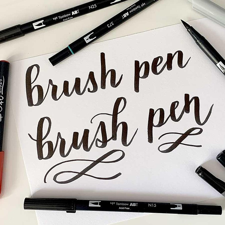 FREE online taster: Beginning Brush Lettering Calligraphy Starter Session image