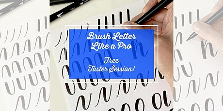 FREE online taster: Beginning Brush Lettering Calligraphy Starter Session tickets
