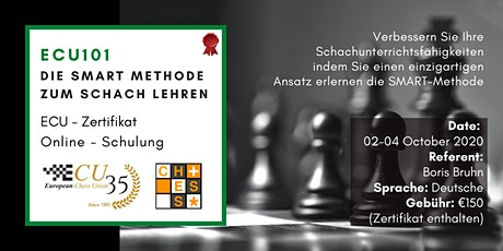 ECU101 - ECU 101 Die SMART Methode zum Schach lehren - Schachdidaktik Tickets