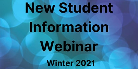 New Student Information Webinar tickets
