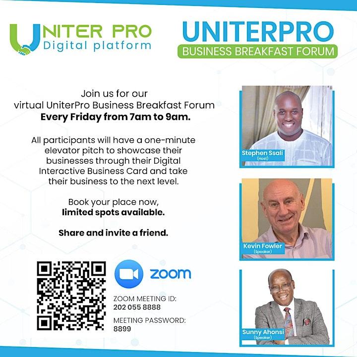 UNITERPRO VIRTUAL BUSINESS BREAKFAST FORUM image