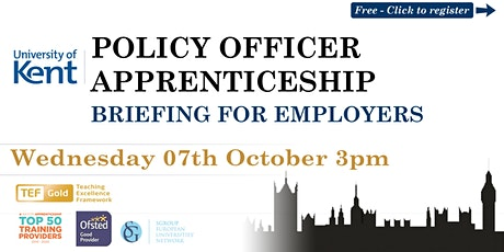 Policy Officer Higher Apprenticeship | Webinar | University of Kent tickets