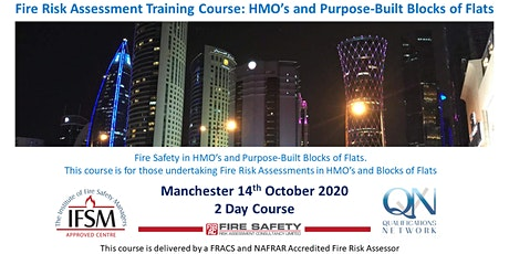 2 Day HMO &  Purpose Built Blocks of Flats Fire Risk Assessment Course tickets