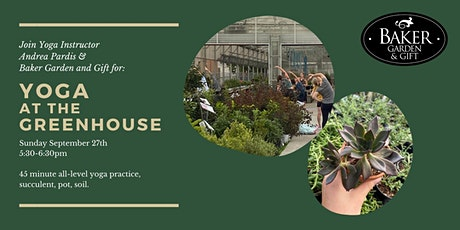 Yoga at the Greenhouse tickets