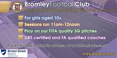 Girls Saturday Morning Soccer School: September-December 2020 tickets