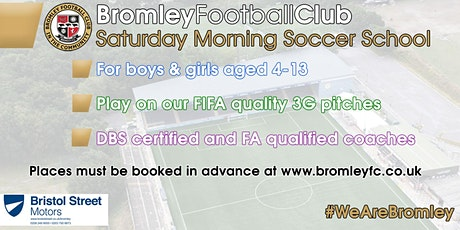 Saturday Morning Soccer School: September-December 2020 tickets