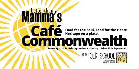 Cafe Commonwealth (Better Than Mamma's)   3-4pm   /   SUNDAY 20th SEPTEMBER tickets