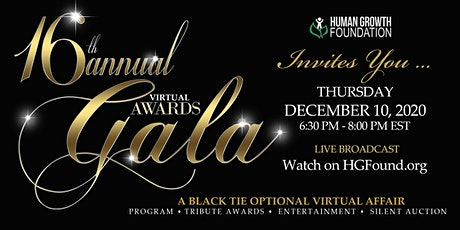 16th Annual Human Growth Foundation Virtual Awards Gala tickets