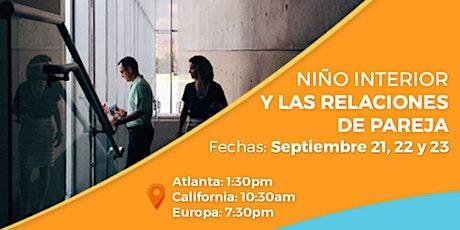 """Taller online """"El Niño Interior y las Relaciones de Pareja"""" tickets"""