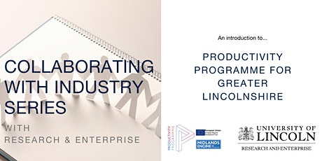Collaborating with Industry: Productivity Programme & College of Science tickets