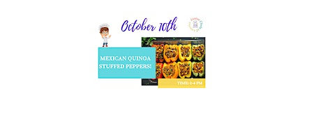 (4-13) ONLINE Cooking Class -Mexican Quinoa Stuffed Peppers tickets