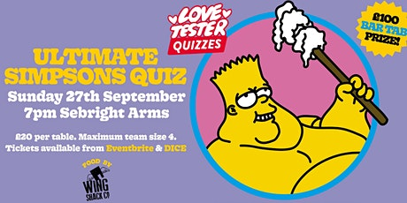 Ultimate Simpsons Quiz tickets