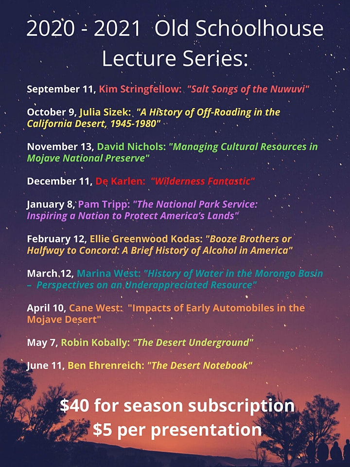 Old Schoolhouse Lecture Series 2020-2021 image