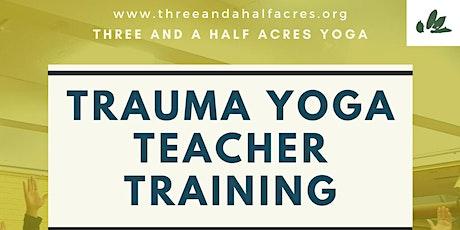 Trauma Yoga Teacher Training-West Coast tickets