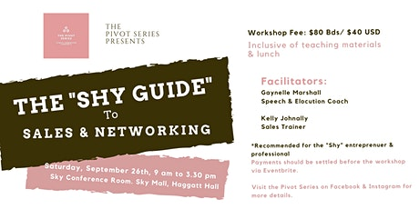 "The ""Shy Guide"" to Sales & Networking tickets"