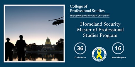 GW Homeland Security Master's Degree Program - Info Session tickets