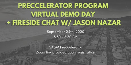 Preccelerator Demo Day + Fireside Chat with Jason Nazar of Comparably tickets
