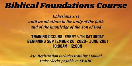 Biblical Foundations Course tickets