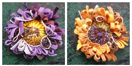 Come learn how to hook a wool flower pin-outdoor class-ages 12+ tickets