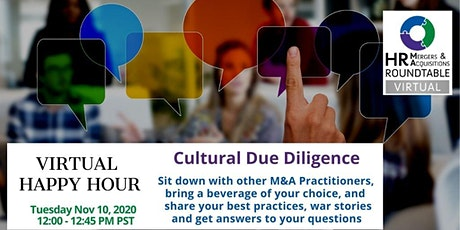Nov 10th  HR M&A Roundtable - Diversity Due Diligence tickets