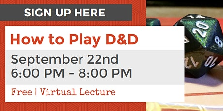 How to Play Dungeons & Dragons: Intro to Dungeons & Dragons tickets