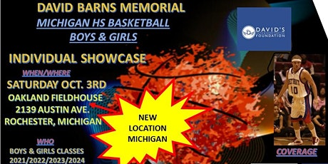 David Barns Michigan HS Basketball Boys & Girls Individual Showcase tickets