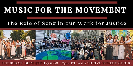 Music For The Movement: The Role of Song in our Work for Justice tickets