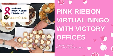 Pink Ribbon Virtual Bingo With Victory Offices tickets