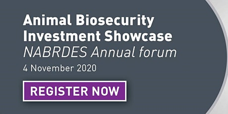 Animal Biosecurity RD&E Investment Showcase tickets