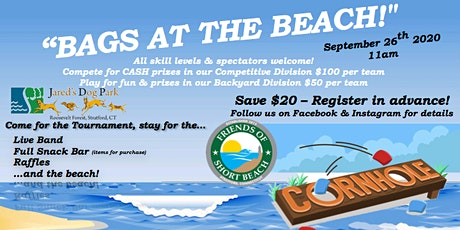 2nd Annual Bags at the Beach Charity Cornhole Tournament tickets