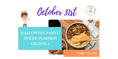 Kids (4-13) In-Person Cooking Class - Spiced Pumpkin Granola - AM tickets