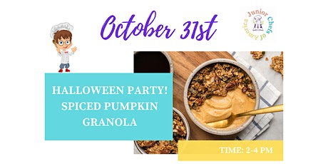 Kids (4-13) In-Person Cooking Class - Spiced Pumpkin Granola - PM tickets
