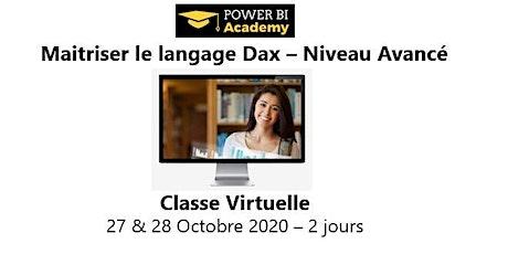 Maîtriser le langage DAX - Niveau avancé - 2 jours - 27 & 28 Octobre 2020 billets