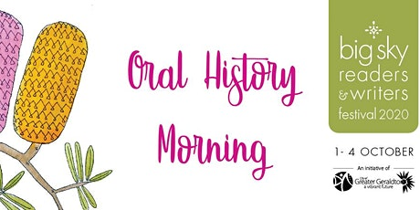 Oral History Morning tickets