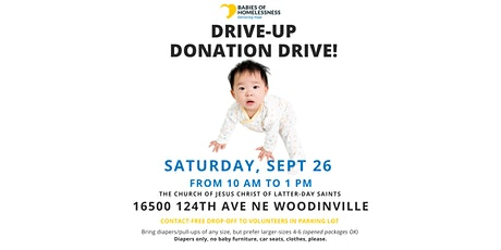 Babies of Homelessness Sponsoring Drive-Up Donation Drive Sept 26 tickets