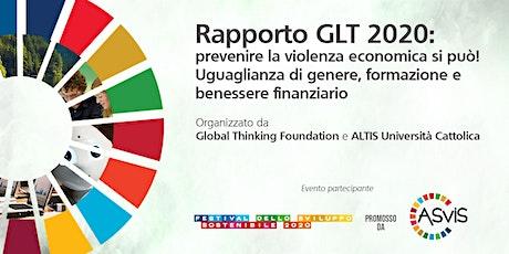 Rapporto GLT 2020: prevenire la violenza economica si può! biglietti