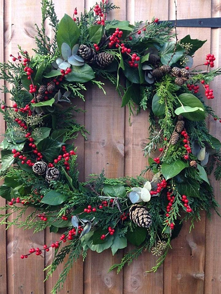 Festive Wreath-Making Workshop With  a Glass of  Mulled Wine & Mince Pie image