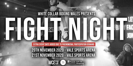 White Collar Boxing Wales Presents... FIGHT NIGHT - 20th & 21st Nov 2020 tickets