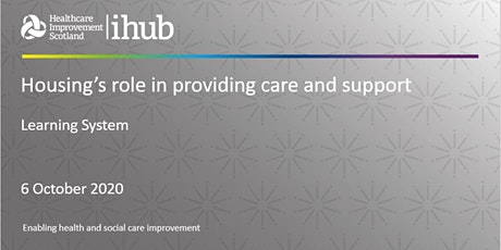Housing's Role in  Providing Care and Support tickets