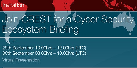 CREST Cyber Security Ecosystem Briefing tickets