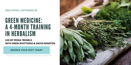 Free Intro: Green Medicine: A 4-Month Training in Herbalism tickets