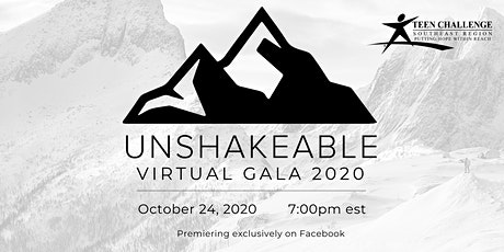 Unshakeable Teen Challenge Davie Virtual Gala tickets