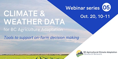 Weather & climate data to support on-farm decision making tickets